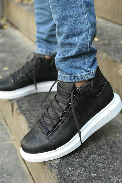 Lace-Up Summer Design Boots-Grey - MensFashionsWorld