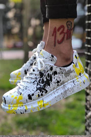 Special Edition Sneakers- Yellow Spotted - MensFashionsWorld