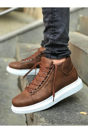 Lace-Up Summer Design Boots - Tan - MensFashionsWorld