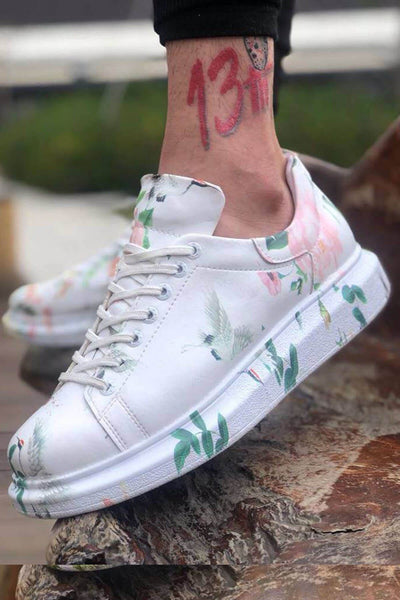 Special Edition Sneakers- Brid Print - MensFashionsWorld