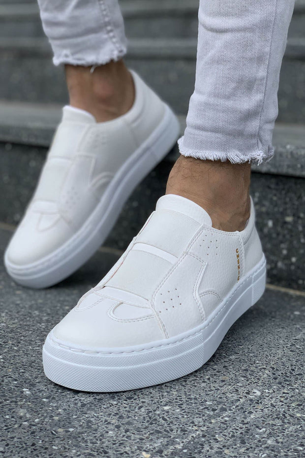Mens' Casual Sneakers-White - MensFashionsWorld