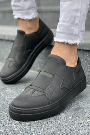 Mens' Casual Sneakers-Full Black - MensFashionsWorld