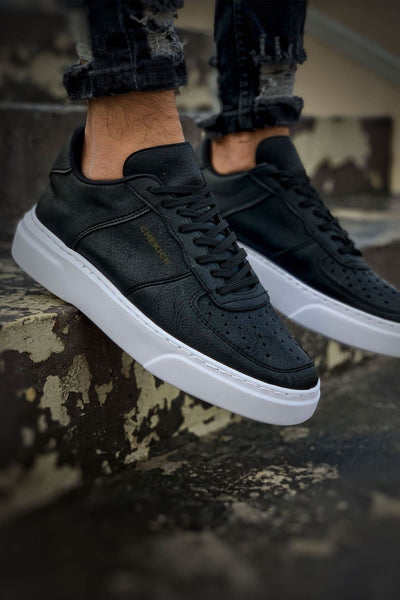 Comfortable Stylish Sneakers-Black & White - MensFashionsWorld