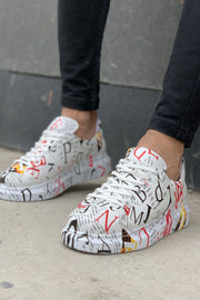 Special Edition Sneakers- Mag Print - MensFashionsWorld
