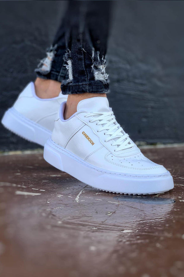 Comfortable Stylish Sneakers- White - MensFashionsWorld