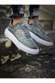 Comfortable Stylish Sneakers - Full Grey - MensFashionsWorld
