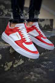 Comfortable Stylish Sneakers - Red & White - MensFashionsWorld