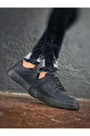 Comfortable Stylish Sneakers-Full Black - MensFashionsWorld