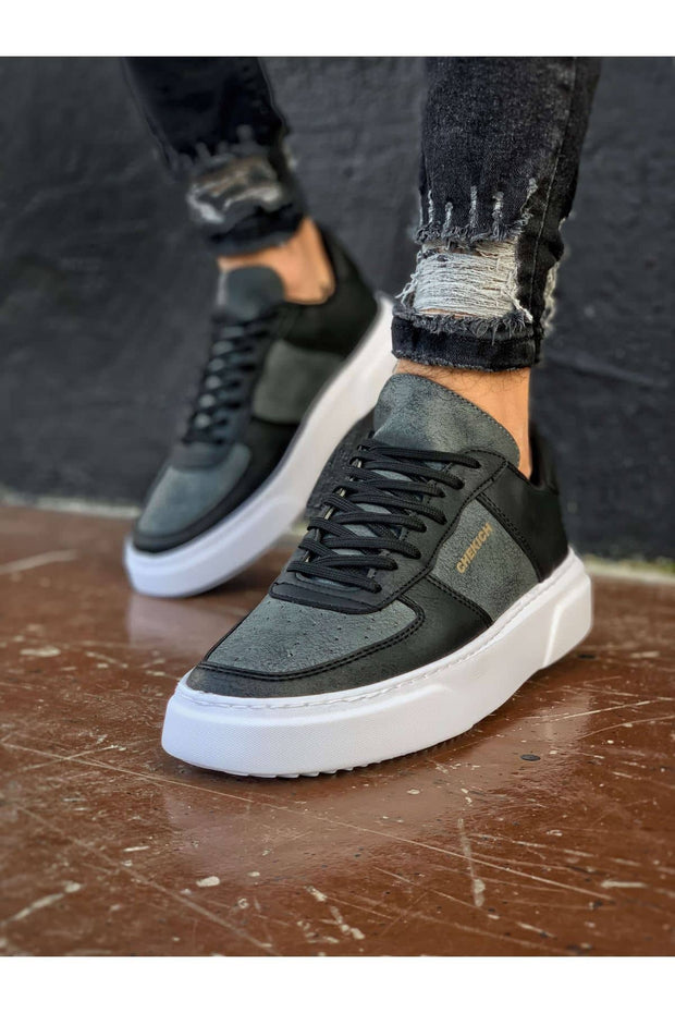 Comfortable Stylish Sneakers-Grey & Black - MensFashionsWorld