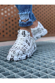 Special Edition Sneakers- Chinese Letters Print - MensFashionsWorld