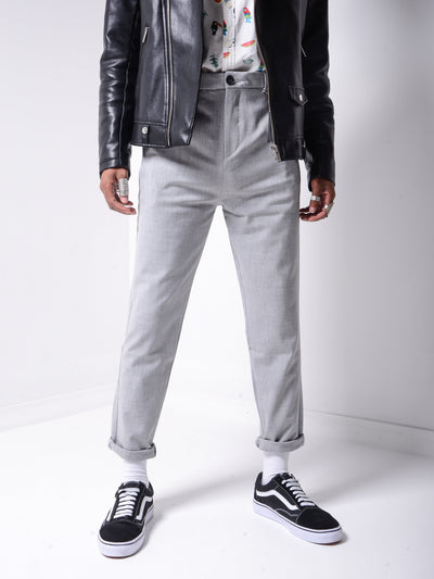 Roll Up Ankle Pants - Grey - MensFashionsWorld