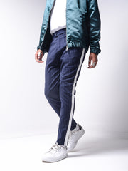Striped Ankle Pants - Blue - MensFashionsWorld