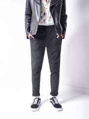 Striped Ankle Pants - MensFashionsWorld