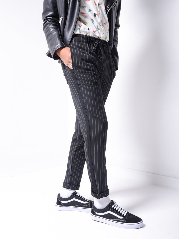 Striped Ankle Pants