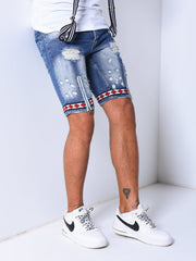 Jean Shorts Bleach Wash - Blue