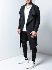 Overcoat - Black - MensFashionsWorld