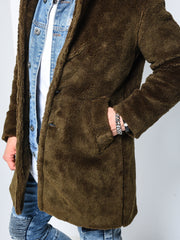 Plush Jacket - Khaki - MensFashionsWorld