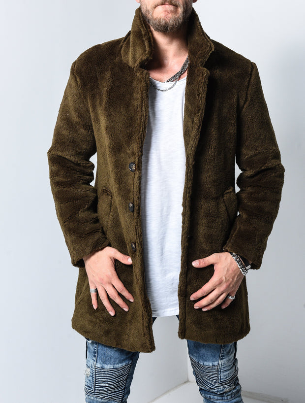 Plush Jacket - Khaki