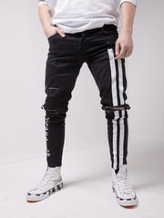 Racer Black Jeans - MensFashionsWorld
