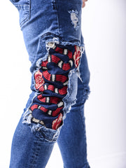 Snake Jeans - Blue - MensFashionsWorld
