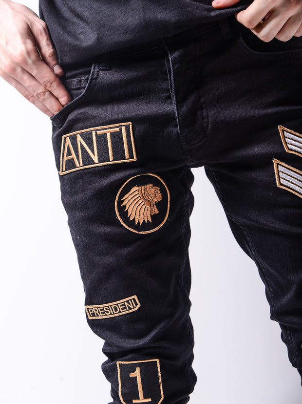 Gambler's Jeans - Black - MensFashionsWorld