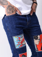 Comic Books Navy Jeans - MensFashionsWorld