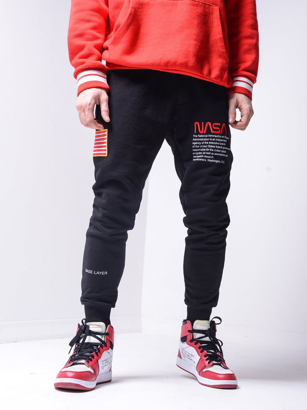 NASA Sweatpants - Black - MensFashionsWorld