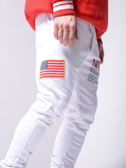NASA Sweatpants - White - MensFashionsWorld