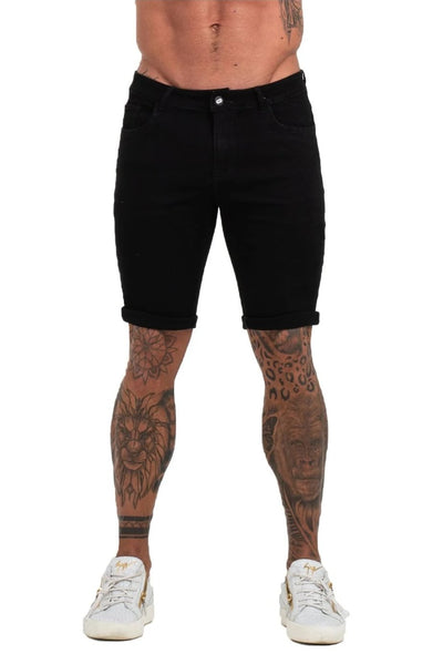 Black Denim Jeans Shorts For Summer - MensFashionsWorld