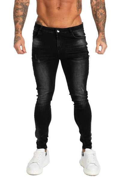 Faded Black Skinny Fit Jeans - MensFashionsWorld