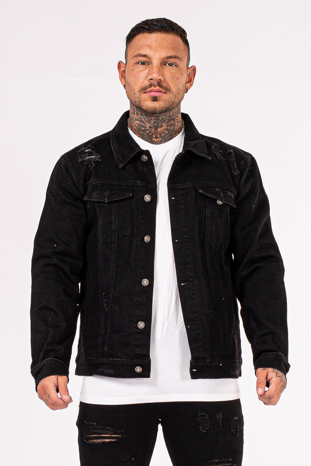 Mens Stylish Denim Jacket- Black