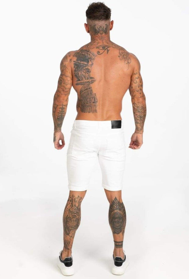 White Denim Jeans Shorts For Summer - MensFashionsWorld