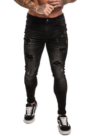 Black Skinny Jeans Ripped - MensFashionsWorld
