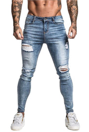 Light Blue Distressed Jeans - MensFashionsWorld