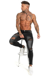 Mens Dark Washed Black Jeans - MensFashionsWorld