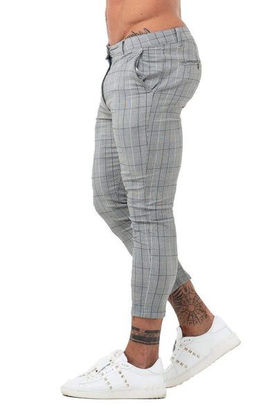 Skinny Chinos Tapered Pants - MensFashionsWorld