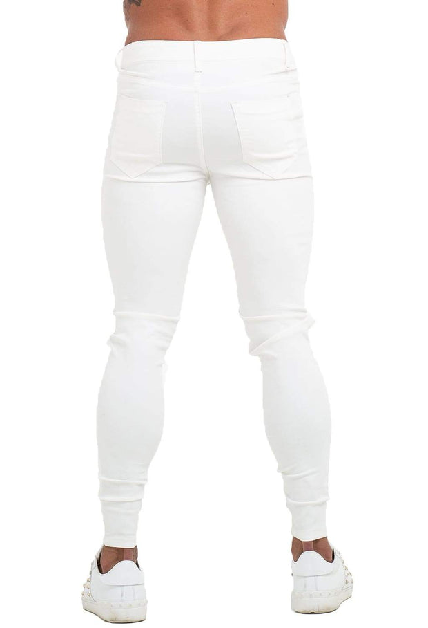 White Ripped Skinny Jeans - MensFashionsWorld