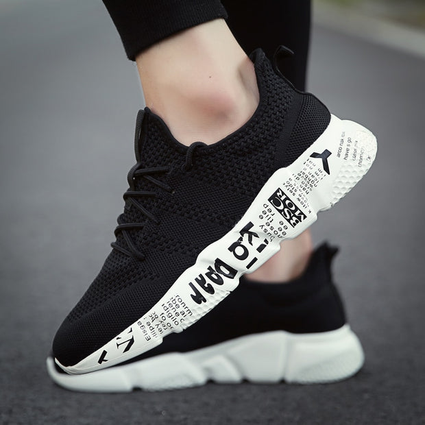 Men's Summer Sports Sneakers - Black