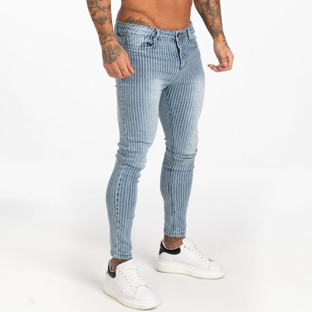 Ripped Skinny Slim Fit Ankle Tight Light Weight Jeans for Men