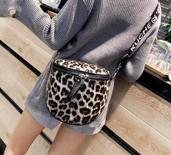 Animal Print Messenger Bag