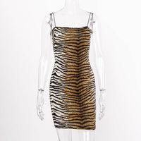 Mini animal print dress