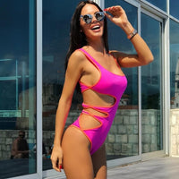 Cut Out Push Up Monokini