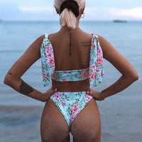 Double Sided Floral Print Bikini