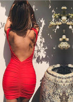 Bodycon mini backless dress