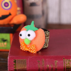 Halloween Cartoon Pumpkin Pat Hand Ring