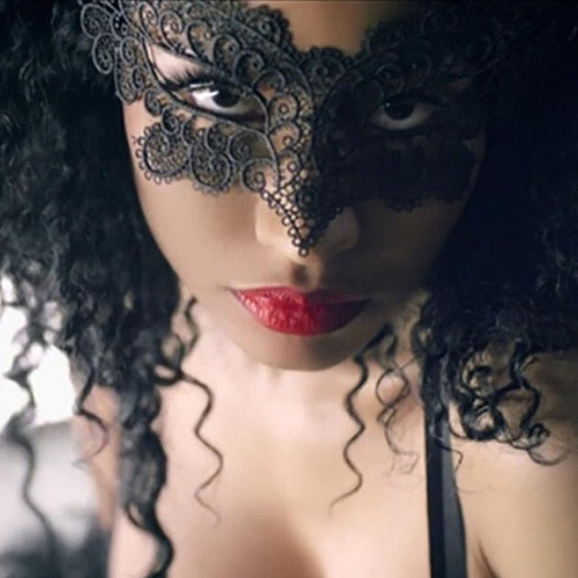 1PC Black Lady Lace Mask