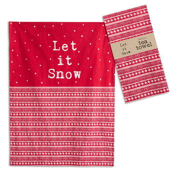 4 pc. Let it Snow Tea Towel