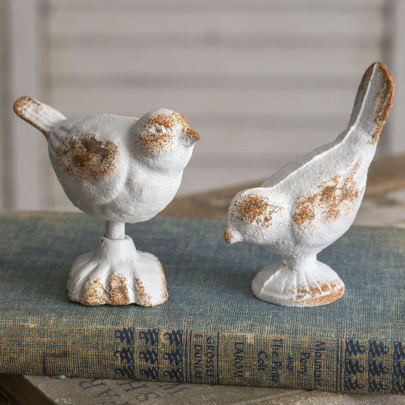 Set of Two Cast Iron BirdsOld Time Shoppe