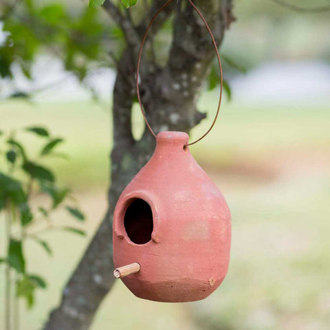 Large Terra Cotta Hanging BirdhouseOld Time Shoppe
