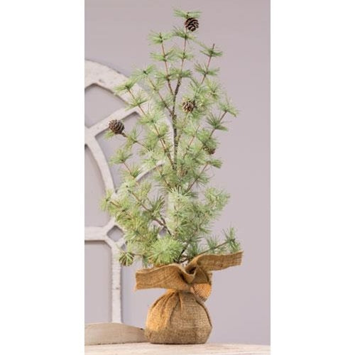 "Tahoe Burlap Base Tree, 24""Old Time Shoppe"